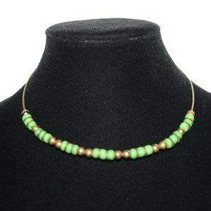 Beautiful bronze and green coil necklace